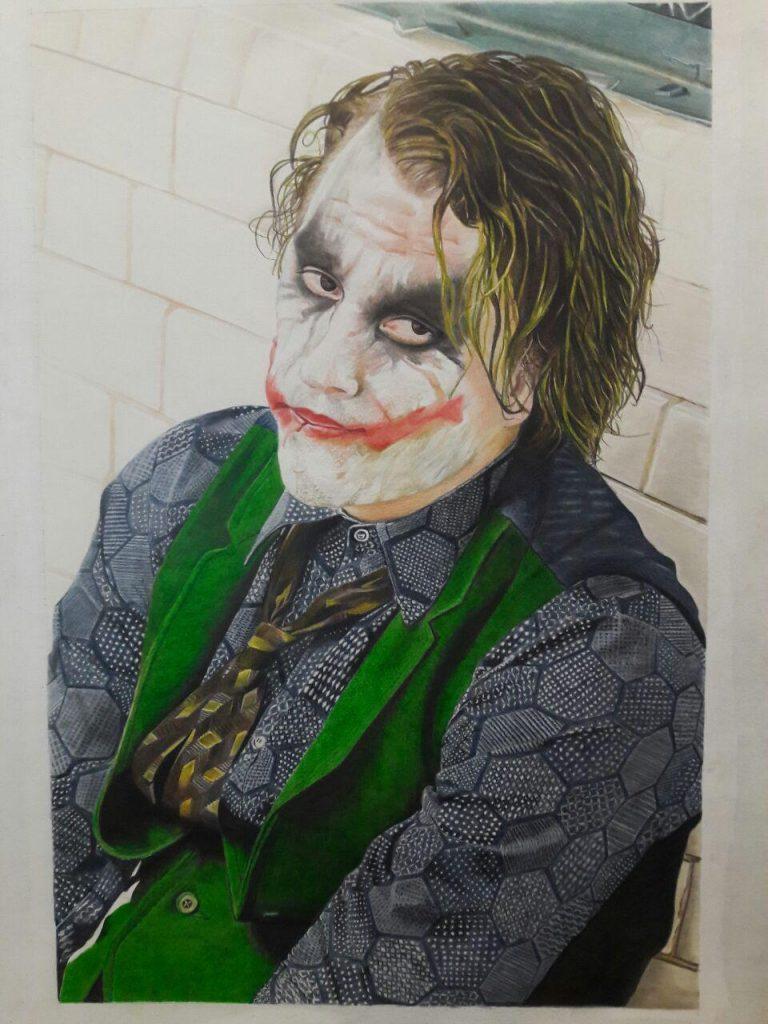 نقاشی مداد رنگی آموزشگاه نقاشی یوسف زاده