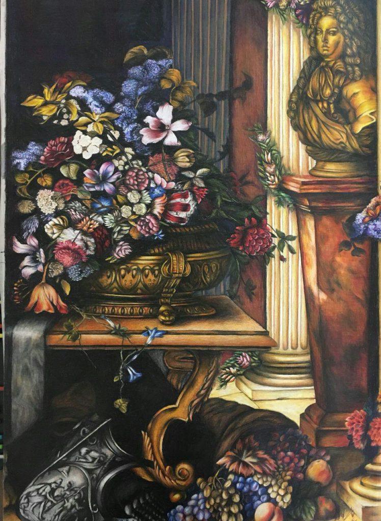 نقاشی مداد رنگی آموزشگاه نقاشی یوسف زاده آموزشگاه نقاشی شرق تهران