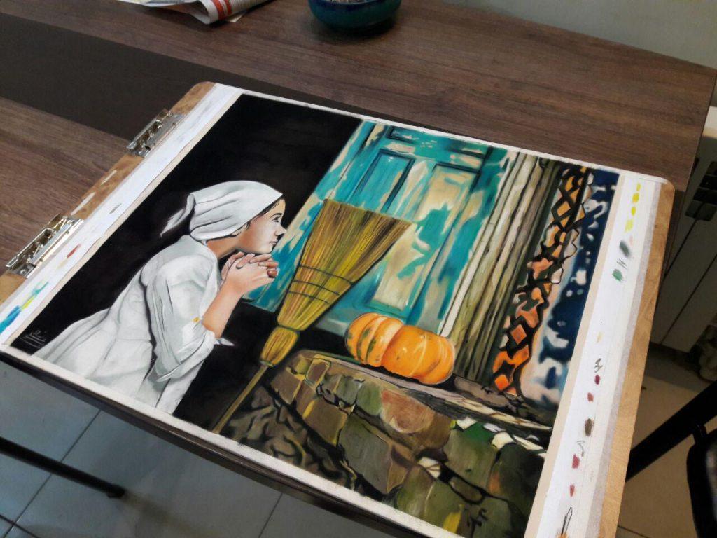 نقاشی پاستل هنرجو خانم عاشوری