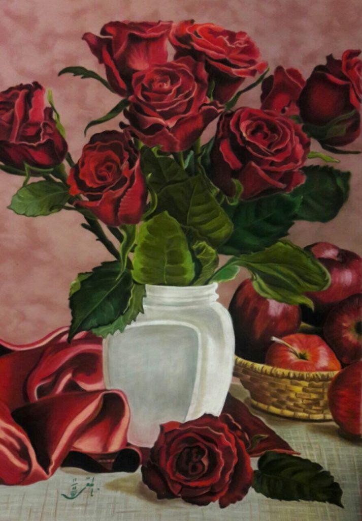 نقاشی پاستل هنرجو خانم ناطقی