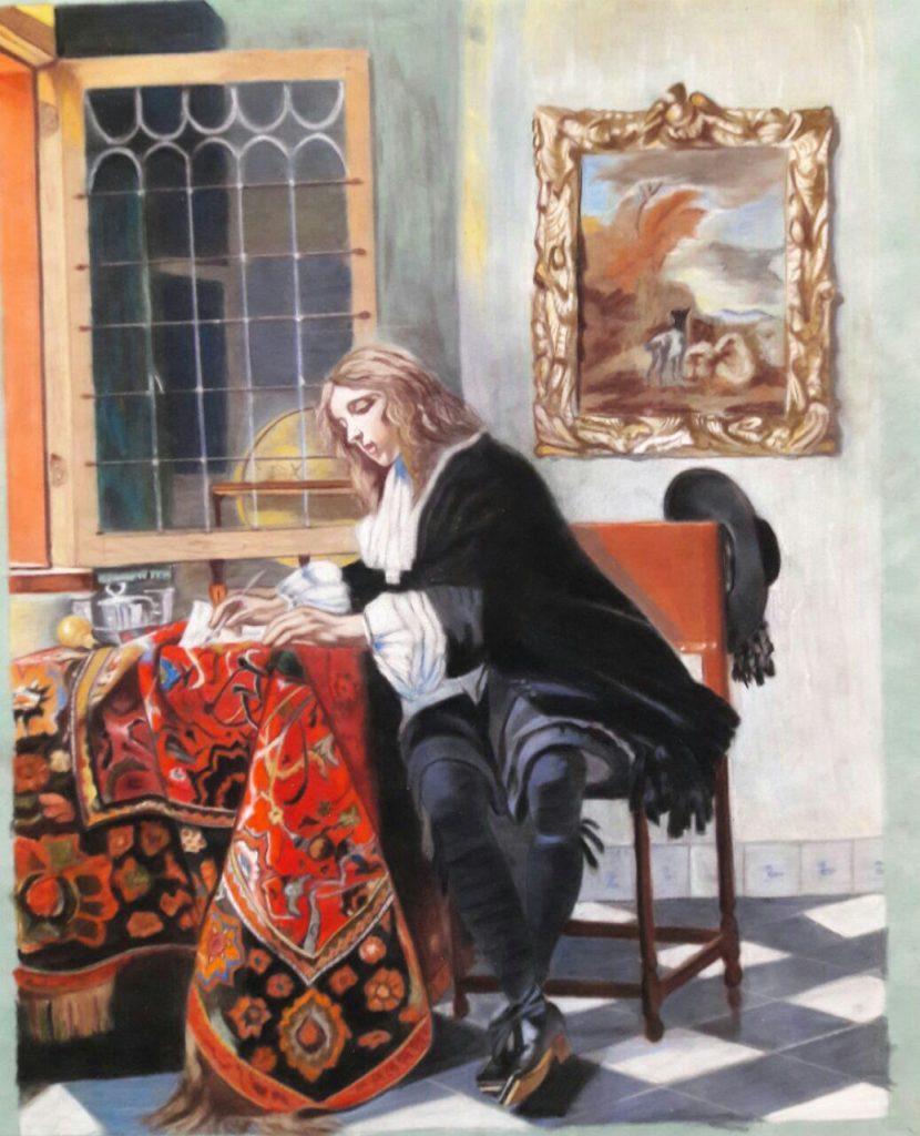نقاشی پاستل هنرجو خانم اسدی