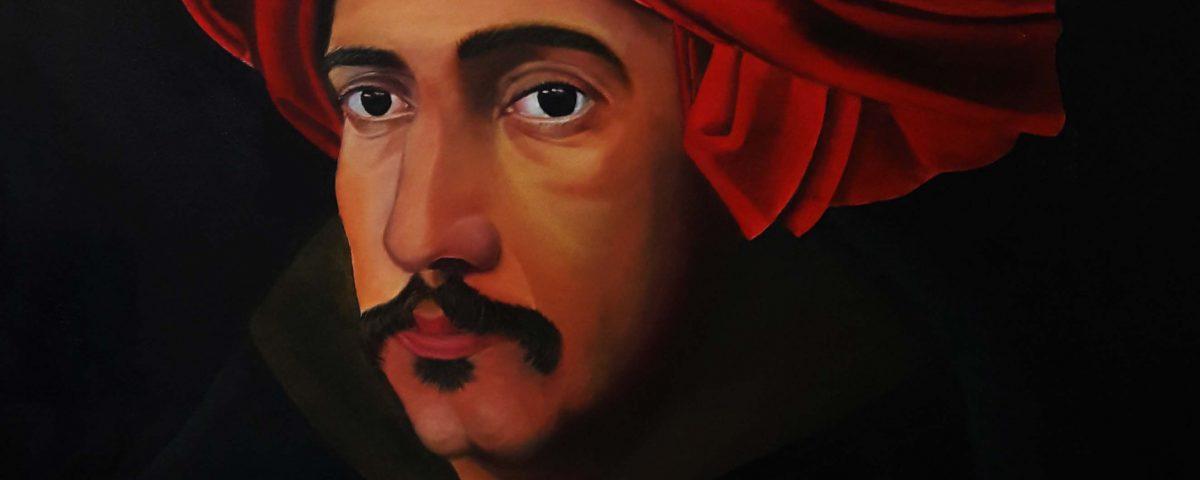 نقاشی رنگ روغن سلف پرتره آموزشگاه نقاشی یوسف زاده