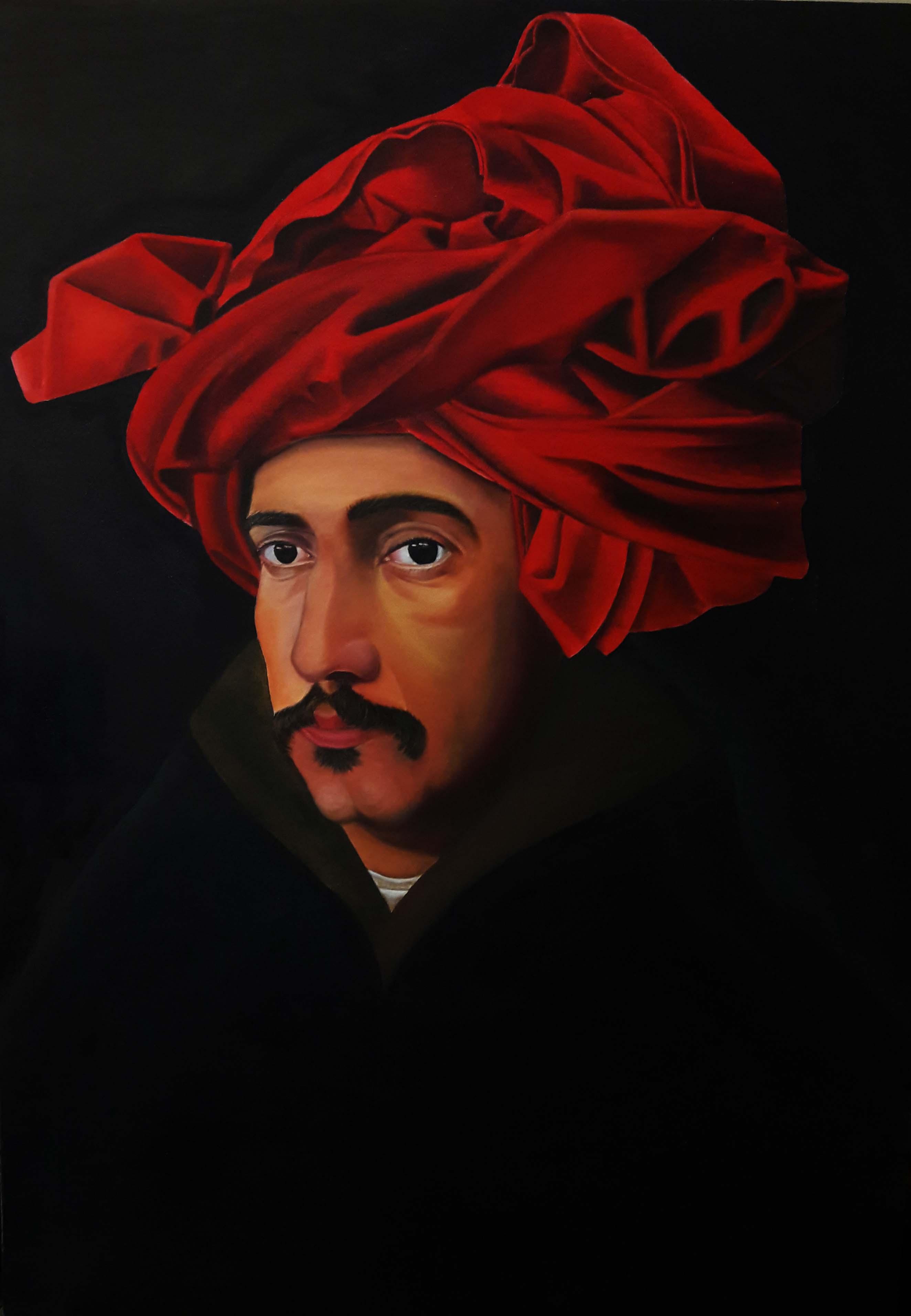 آموزش نقاشی رنگ روغن سلف پرتره آموزشگاه نقاشی یوسف زاده