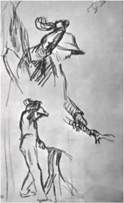 طراحی فیگور - اثر ژان فرانسوا میله