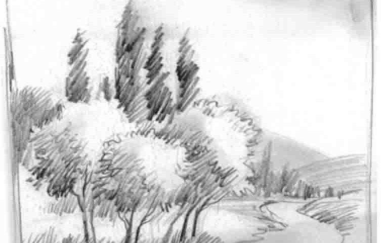 دید از پایین_طراحی با مداد_آموزشگاه نقاشی شرق تهران