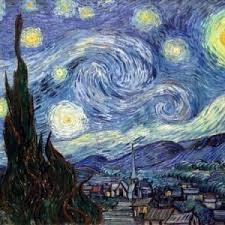 شب پر ستاره _ ونسان ونگوگ _ آموزشگاه نقاشی _ پست امپرسیونیسم