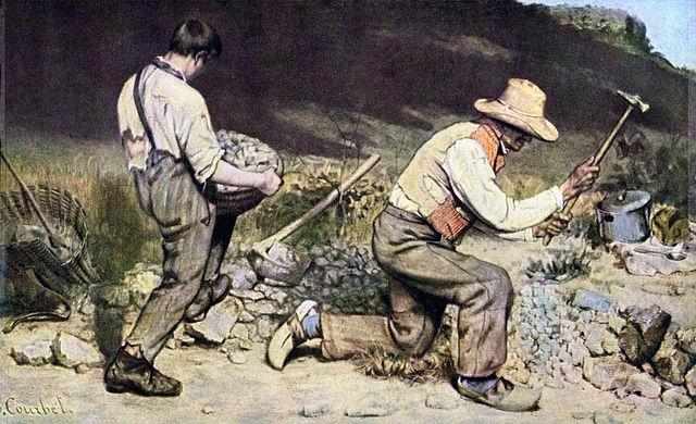 سنگ شکنان _ گوستاو کوربه _ از رئالیسم تا اکسپرسیونیسم _ آموزشگاه نقاشی در نارمک